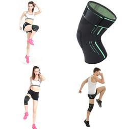 1 Pair Anti Slip Knee Compression Sleeve Brace Support Side