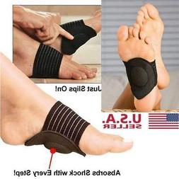 1 Pair Foot Support Cushioned Arch Brace Helps Decrease Plan