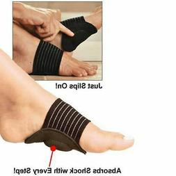 1 Pair Foot Support Cushioned Arch Brace Help Decrease Plant