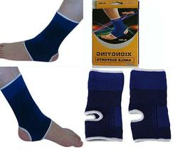 2 ANKLE Support Wrap Elastic Brace Sleeve Muscle Arthritis P