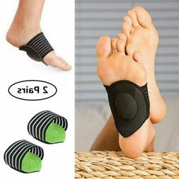 2 Pairs Foot Support Cushioned Arch Helps Decrease Plantar F