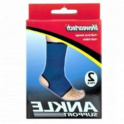2 Pc. Blue Ankle Sports Support Brace Compression Sleeve Foo