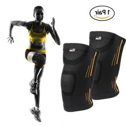 2 x Knee Sleeve Compression Brace Support For Sport Joint Ar
