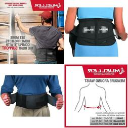 Mueller 255 Lumbar Support Back Brace With Removable Pad, Bl