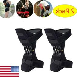 US 2X Joint Support Brace Knee Pads Booster Lift Squat Sport