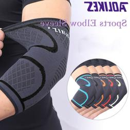 2x Elbow Support Brace Fit Compression Arm Sleeve Sports Bre
