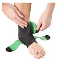 Mueller Adjustable Ankle Support, Green/ Black, One Size Fit