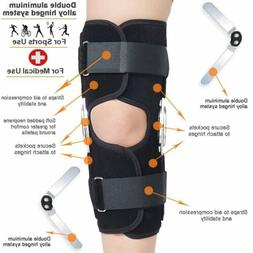 Adjustable Hinged Knee Brace Patella Support Tendonitis Reli