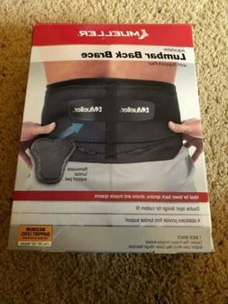 Mueller Adjustable Lumbar Support Back Brace Black Fits 28""