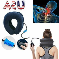 Air Inflatable Pillow Cervical Neck Head Pain Relief Tractio