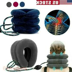 Air Inflatable Pillow Cervical Neck Head Traction Support Br