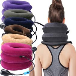 Air Inflatable Pillow Cervical Neck Shoulder Traction Suppor