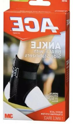 ACE Ankle Brace w/ Side Stabilizers Adjustable Moderate Supp