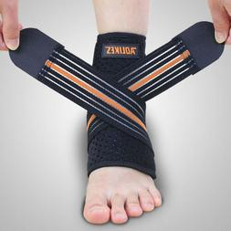 1 Pair Ankle Brace Breathable Compression Sleeve with Adjust