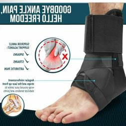 Ankle Brace Support Plantar Fasciitis Lace Up Stabilizer Spr