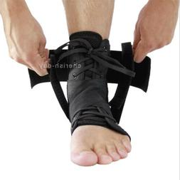 Ankle Lace Up Support Brace Hinged Guard Injury Pain Stabili