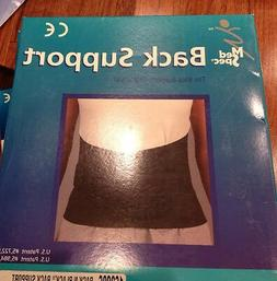 Med Spec Back-N-Black Back Support Brace, Size Small, Black,