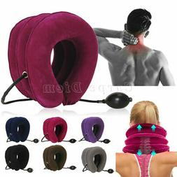 cervical neck traction device collar brace support
