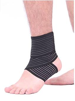 Men Women Compression Ankle Support Tape Bandage Outdoor Gym