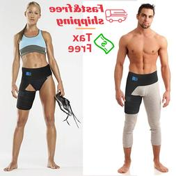 Copper Compression Brace Groin Thigh Sleeve Hip Support Wrap