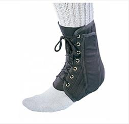 DJO ProCare Lace-Up Canvas Ankle Support Large Black