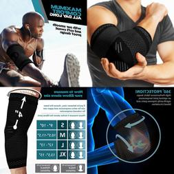 Powerlix Elbow Brace Compression Support Pair Sleeve For Ten