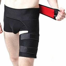 Groin Support, Hip Brace Sleeve, Compression Groin Wrap for