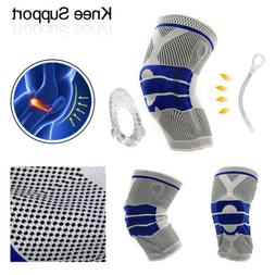Knee Brace Compression Protection Silicone Spring Meniscus S