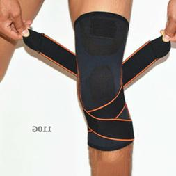 Knee Brace Pads Support Weaving Sleeve Compression For Sport