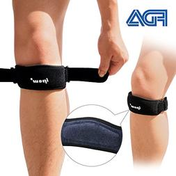 IPOW 2 Pack Thickened Pad&Wide Patella Knee Strap,Pain Relie