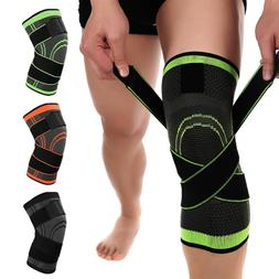 2*Knee Sleeve Compression Brace Patella Support Stabilizer S