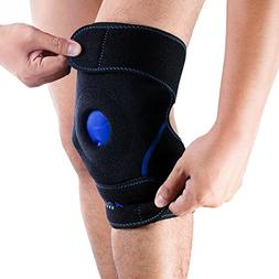 Knee Support Brace Wrap with Ice Gel Pack for Hot and Cold T