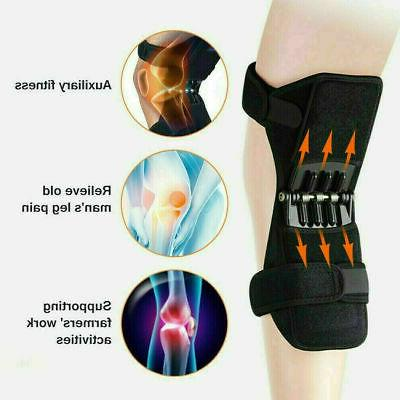 Pair Knee Pads Booster Squat Spring Force