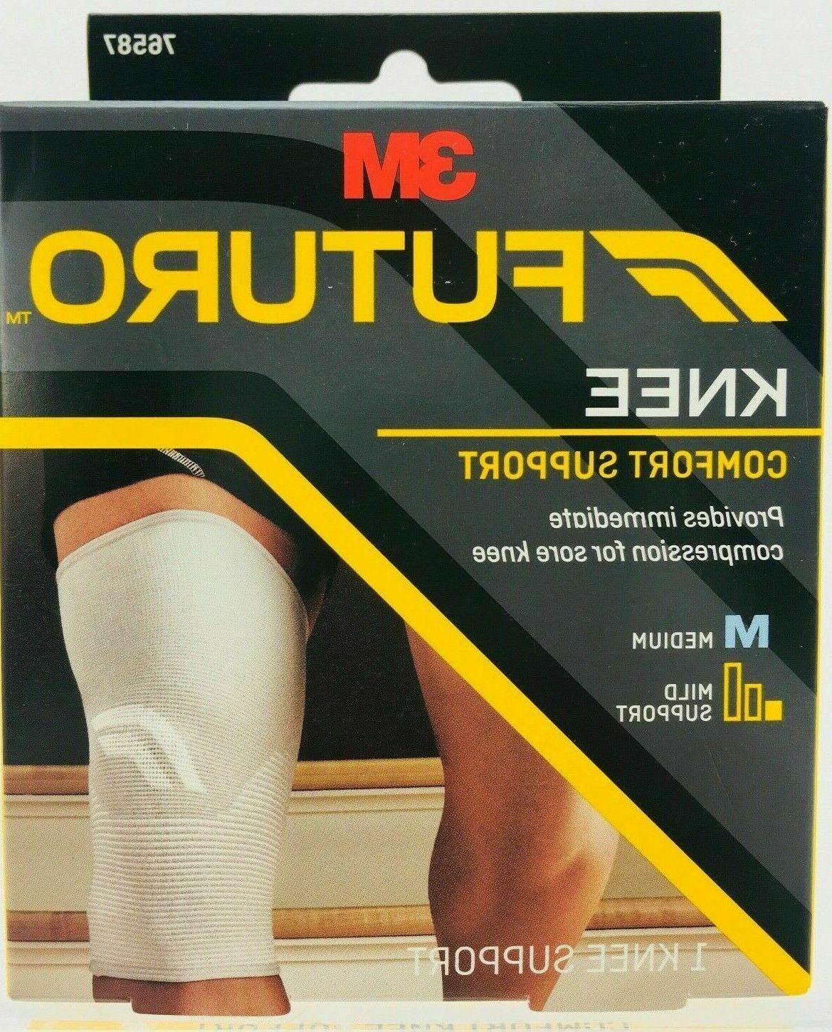 3m comfort compression knee support new in