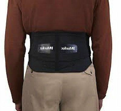 Mueller Lumbar Back Brace with Removable Black, Regular