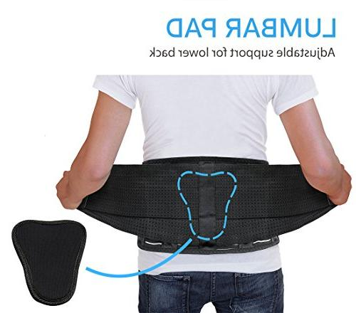 Back - Relief Back Pain, Disc, Sciatica, and more! – Mesh with Lumbar Adjustable Support Lower Belt