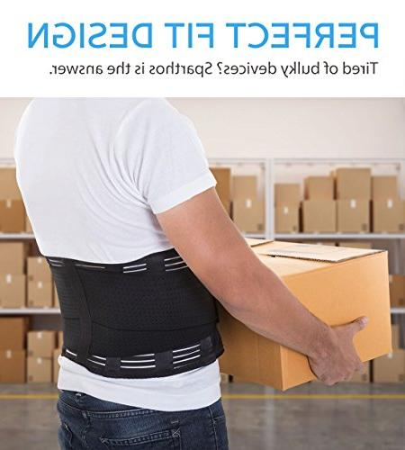 Back Brace - Back Pain, Herniated Disc, Sciatica, Scoliosis and more! – with Pad Adjustable Support – Lower Back Belt