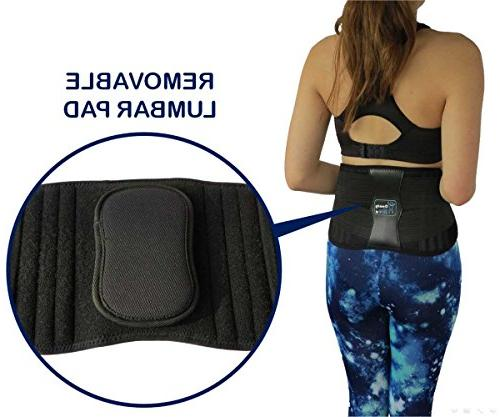 ComfyMed Premium Brace CM-102M with Removable Lumbar Back Pain
