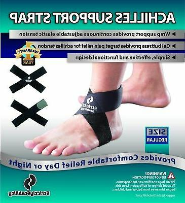 StrictlyStability Achilles Tendonitis Support Strap Brace Regular