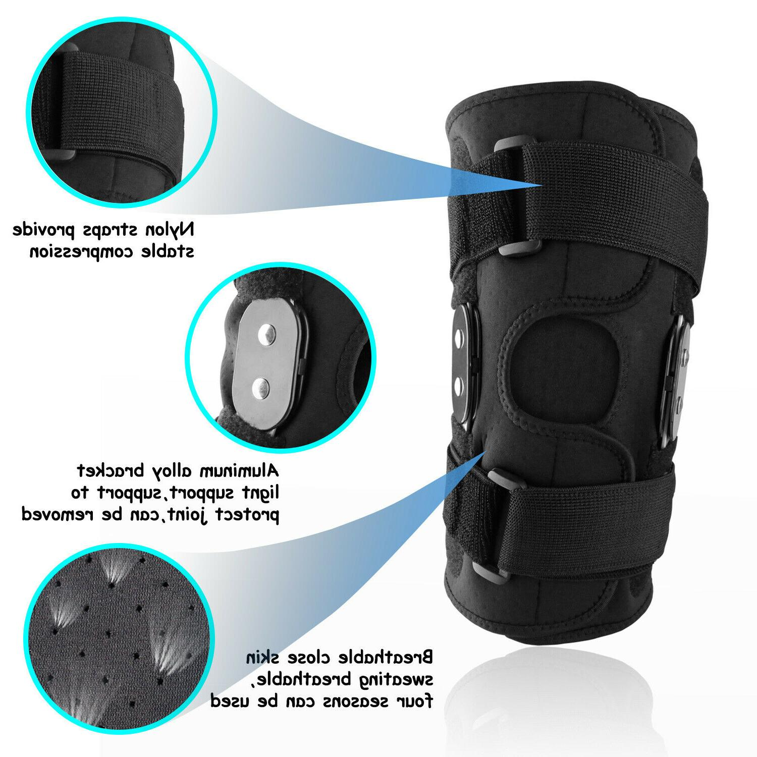 Adjustable Knee Support Brace Sleeve Cap Stabilizer Sports