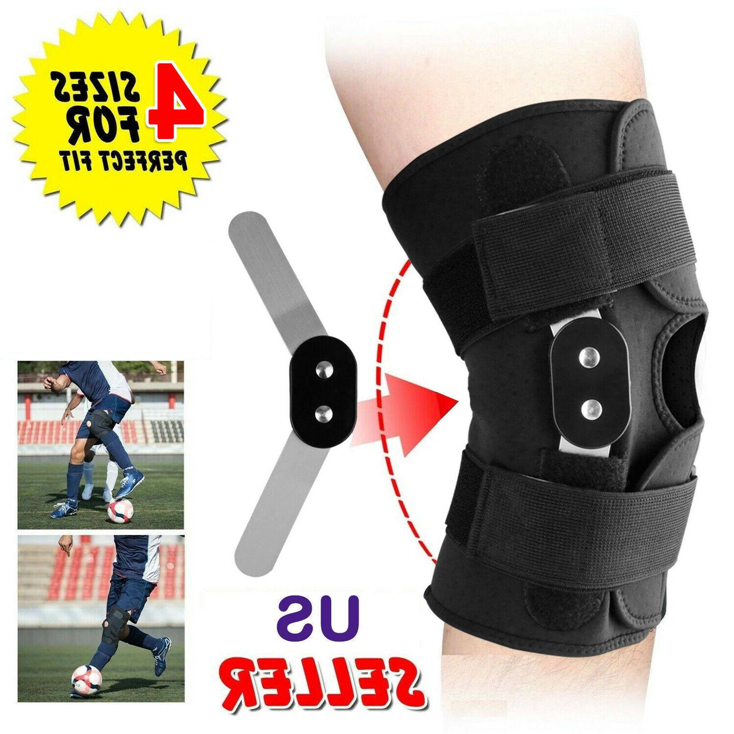 adjustable hinged knee patella support brace sleeve