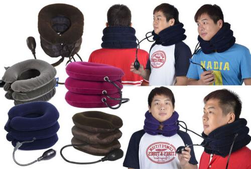 air inflatable cervical neck head pain traction