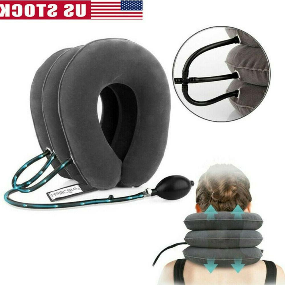 Air Cervical Head Pain Traction Brace Relax Stress
