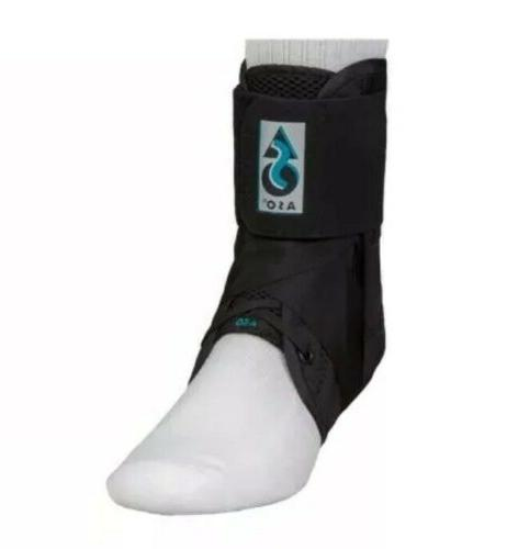 aso black ankle brace support stabilizer straps