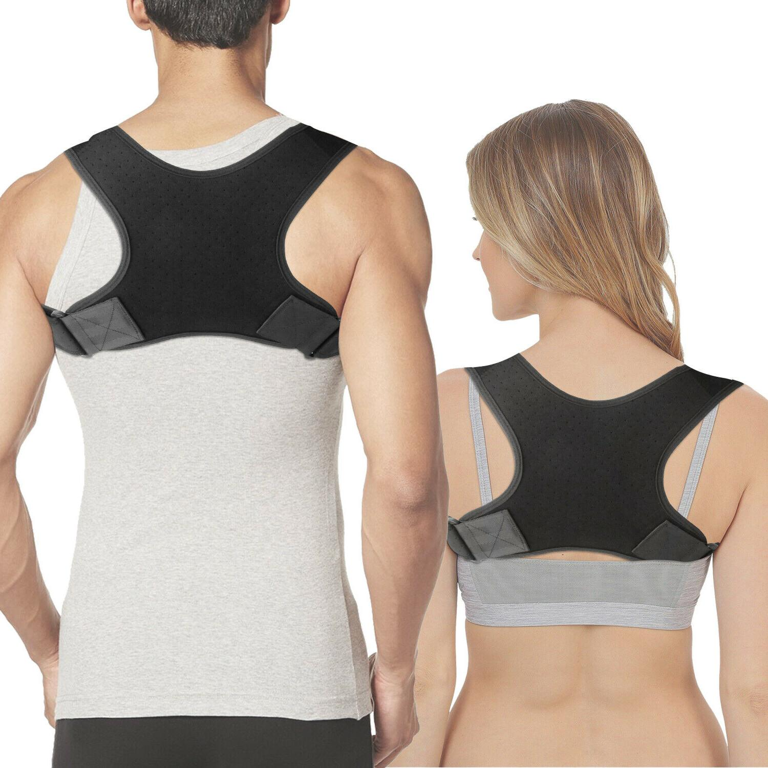 Posture Adjustable Upper Back Shoulder Belt Support Brace Men