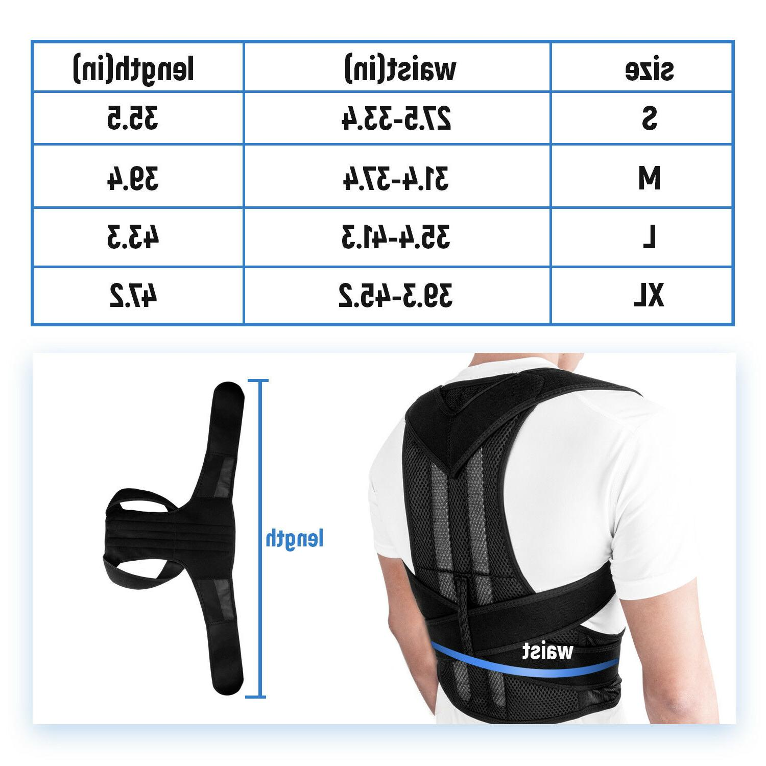 Back Posture Correction Shoulder Corrector Support Therapy Men Women