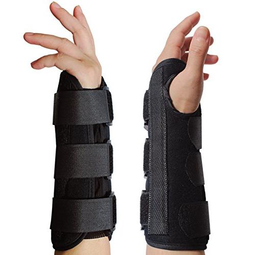 KNASI Night Support Brace,Left Hand Wrist Splint Arm for Tendonitis Women