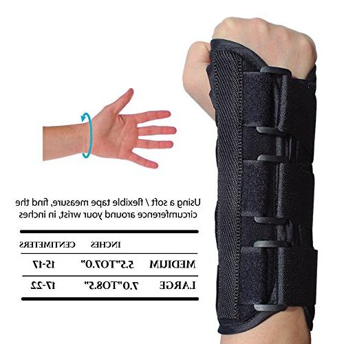 KNASI Carpal Tunnel Night Hand Orthopedic Wrist Splint Tendonitis Arthritis,Adjustable Women