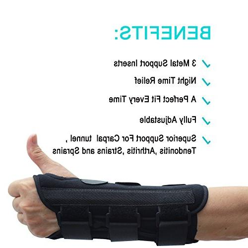 KNASI Night Wrist Support Hand Orthopedic Wrist Splint Arm Brace Tendonitis Wrist Guards Women