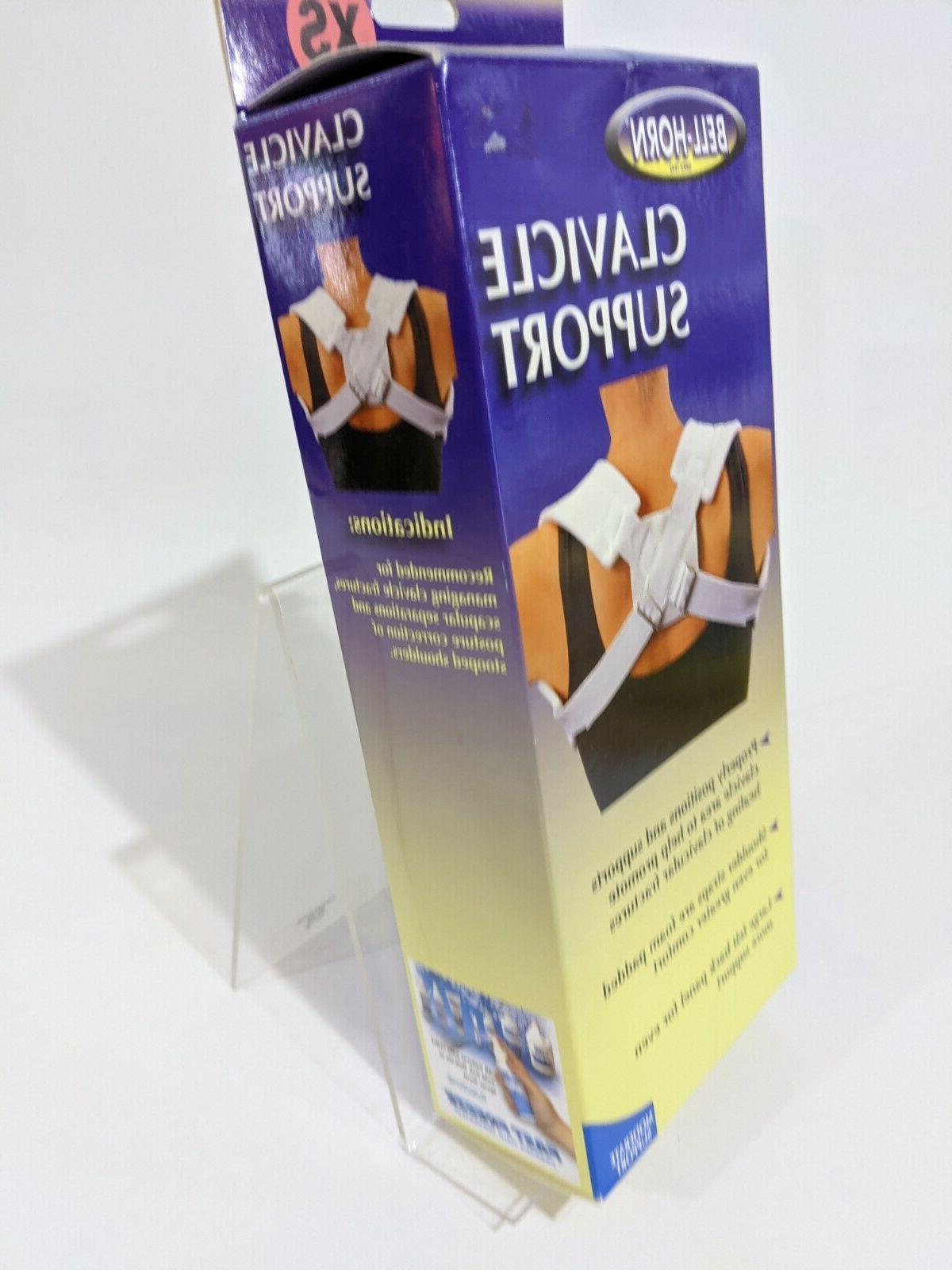 Clavicle Support Sprain Shoulders Brace Bell Horn
